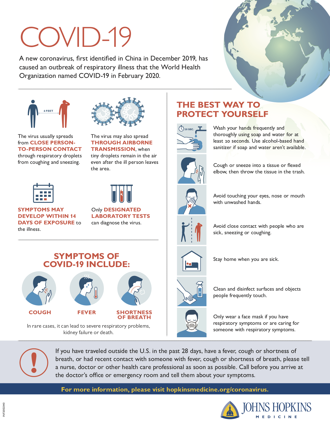 coronavirus covid-19 safety infographic